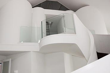 Modern ronde trap van de coolwijk trappen