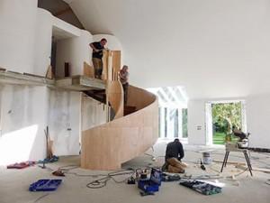 Meten, berekenen en bouwen ronde trap - Van de Coolwijk Trappen